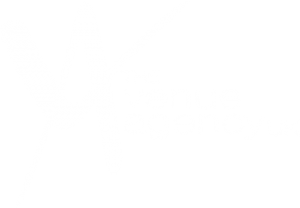 the venue agency logo white