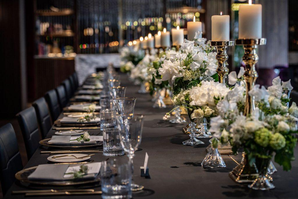 Long Formal Gala Dinner
